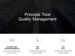 Principle Total Quality Management Ppt Powerpoint Presentation Summary Good Cpb