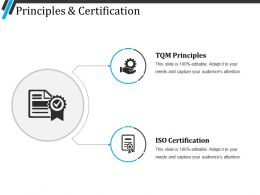 Principles And Certification Powerpoint Graphics