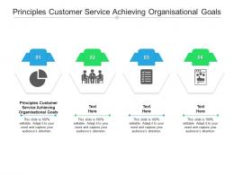 Principles Customer Service Achieving Organisational Goals Ppt Powerpoint Presentation Infographics Slides Cpb
