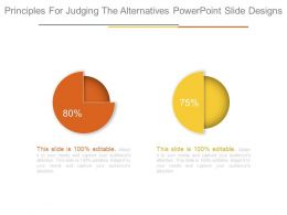 Principles For Judging The Alternatives Powerpoint Slide Designs