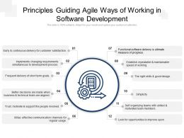 Principles Guiding Agile Ways Of Working In Software Development