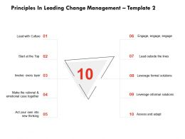 Principles In Leading Change Management Assess And Adapt Ppt Powerpoint Presentation Professional Slides