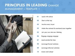 Principles In Leading Change Management Assess And Adapt Ppt Slide