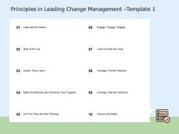 Principles In Leading Change Management Lead Ppt Powerpoint Presentation Show Example