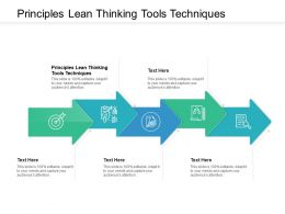 Principles Lean Thinking Tools Techniques Ppt Powerpoint Presentation Portfolio Gridlines Cpb