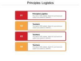 Principles Logistics Ppt Powerpoint Presentation Pictures Infographics Cpb