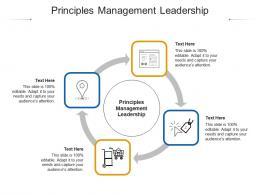 Principles Management Leadership Ppt Powerpoint Presentation Portfolio Design Cpb