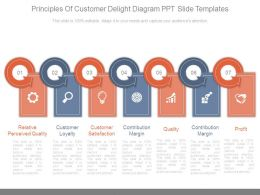 Principles Of Customer Delight Diagram Ppt Slide Templates