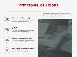 Principles Of Jidoka Investigate Ppt Powerpoint Presentation Show Brochure