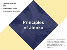 Principles Of Jidoka Manufacturing Ppt Powerpoint Presentation File Guide