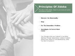 Principles Of Jidoka Ppt Powerpoint Presentation File Slide Download