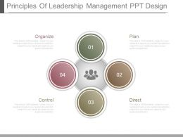 Principles Of Leadership Management Ppt Design