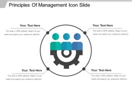 Principles Of Management Icon Slide