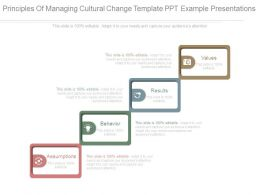 Principles Of Managing Cultural Change Template Ppt Example Presentations
