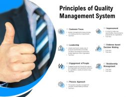 Principles Of Quality Management System
