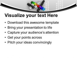 Principles Of Success In Crossword PowerPoint Templates PPT Themes And Graphics 0213