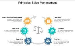 Principles Sales Management Ppt Powerpoint Presentation Slides Slideshow Cpb