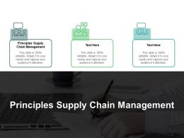 Principles Supply Chain Management Ppt Powerpoint Presentation Gallery Clipart Images Cpb