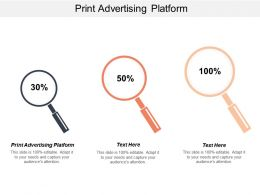 Print Advertising Platform Ppt Powerpoint Presentation File Example Topics Cpb