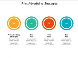 Print Advertising Strategies Ppt Powerpoint Presentation Infographics Introduction Cpb