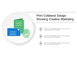 Print Collateral Design Showing Creative Marketing