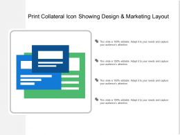Print Collateral Icon Showing Design And Marketing Layout