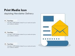 Print Media Icon Depicting Newsletter Delivery