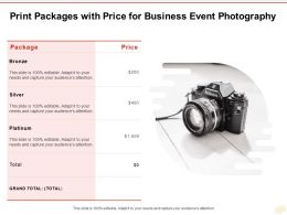 Print Packages With Price For Business Event Photography Ppt Powerpoint Presentation