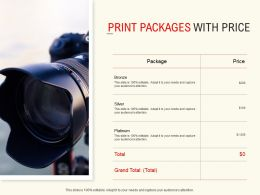 Print Packages With Price Ppt Powerpoint Presentation Icon Background