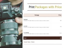 Print Packages With Price Ppt Powerpoint Presentation Portfolio Themes