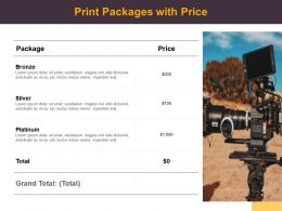 Print Packages With Price Ppt Powerpoint Presentation Professional Slideshow