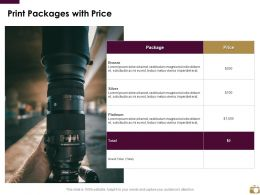 Print Packages With Price Ppt Powerpoint Presentation Slides Vector