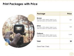 Print Packages With Price Ppt Powerpoint Presentation Visual Aids Gallery