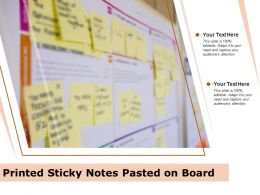 Printed Sticky Notes Pasted On Board