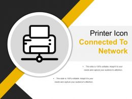 Printer Icon Connected To Network