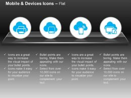 Printer Mobile Computer Cloud Services Ppt Icons Graphics