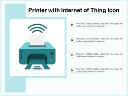Printer With Internet Of Thing Icon