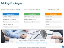 Printing Packages Business Ppt Powerpoint Presentation Outline Format