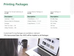Printing Packages Ppt Powerpoint Presentation Summary Mockup