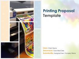 Printing Proposal Template Powerpoint Presentation Slides