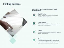 Printing Services Digital Ppt Powerpoint Presentation Model Graphics
