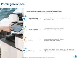 Printing Services Digital Printing Ppt Powerpoint Presentation File Shapes