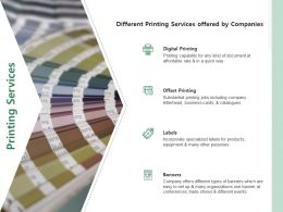 Printing Services Ppt Powerpoint Presentation Infographics Grid