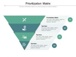 Prioritization Matrix Ppt Powerpoint Presentation File Infographic Template Cpb
