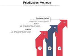 Prioritization Methods Ppt Powerpoint Presentation Pictures Example Cpb