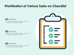 Prioritization Of Various Tasks On Checklist