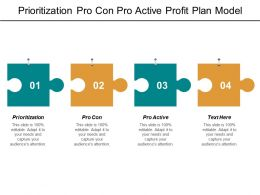Prioritization Pro Con Pro Active Profit Plan Model Value Branding Tools Cpb