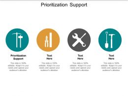 Prioritization Support Ppt Powerpoint Presentation Pictures Structure Cpb