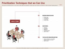 Prioritization Techniques That We Can Use Kano Model Ppt Powerpoint Presentation Example