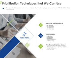 Prioritization Techniques That We Can Use Ppt Powerpoint Presentation Styles Design Templates